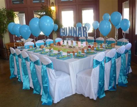 baby shower table settings undersea party table set up kernels for baby showers pinterest