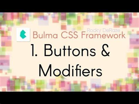 button bulma bulma css framework 1 buttons modifiers youtube