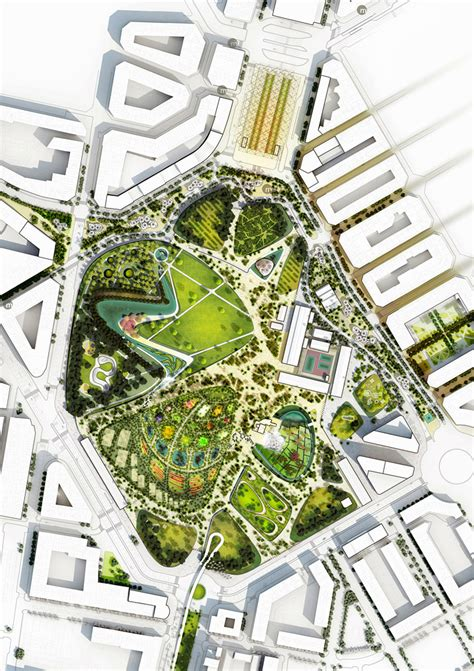 site planning and design valencia parque central proposal by west 8 valencia