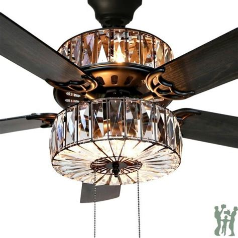 river of goods ceiling fan river of goods 52 quot caged crystal 5 blade ceiling fan with