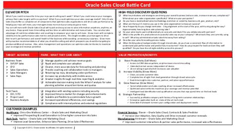 Sales Cloud Battle Card Battle Card Template