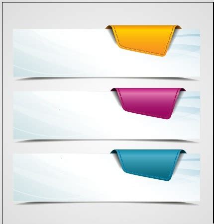 vector banner colored ribbon design free vector in colored corners paper banner vector free vector in