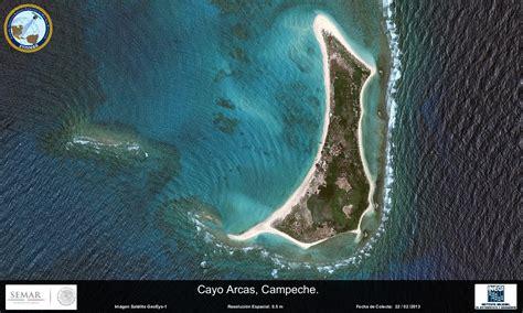 imagenes satelitales conabio imagen satelital de cayo arcas ceche