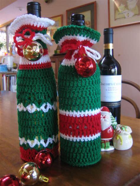 pattern for crochet bottle bag holiday wine bottle buddies patterns