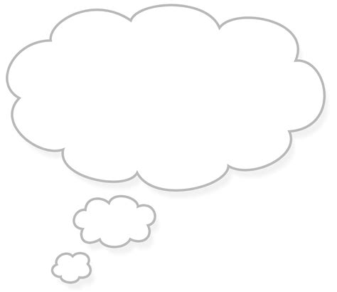 Thinking Outline by Thought Cloud Free Images At Clker Vector Clip Royalty Free Domain