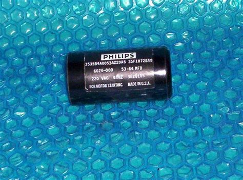 philips starting capacitor philips capacitor 3530b4a0053a220a5 53 64 mfd stk 256