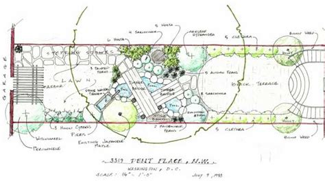 land layout sketch landscape design drawing the environment john james
