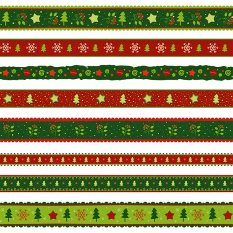 christmas pattern border 2016 christmas borders seamless vector 01 vector