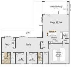 L Shaped Floor Plans by L Shaped House On Pinterest U Shaped Houses House Plans