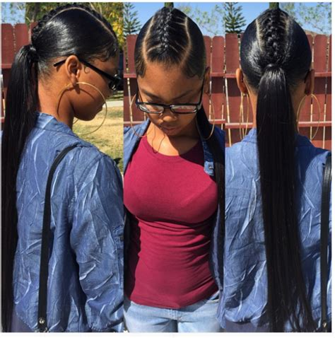 sew in ponytails for black women so simple yet cute black hair information