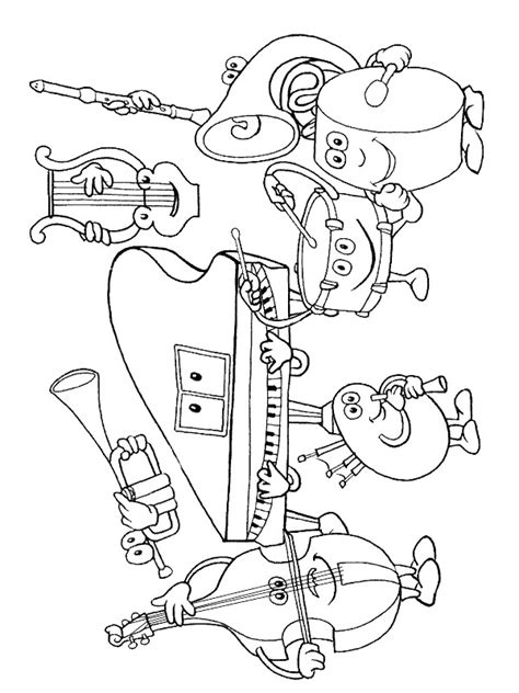 Coloring Pages Musical Instruments n 62 coloring pages of musical instruments
