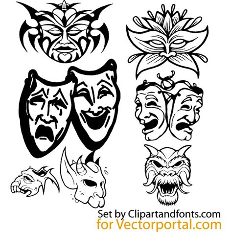 mask packs novi grunge and floral vector pack at vectorportal
