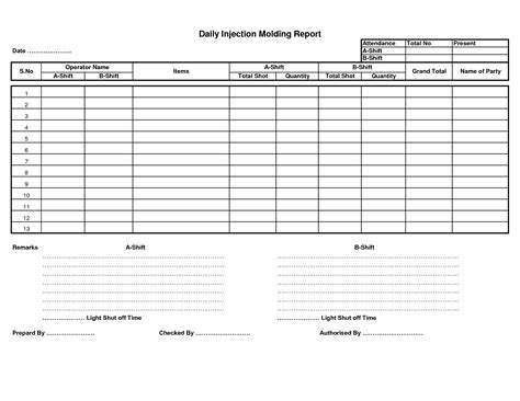 production report template best photos of daily production sheet template daily