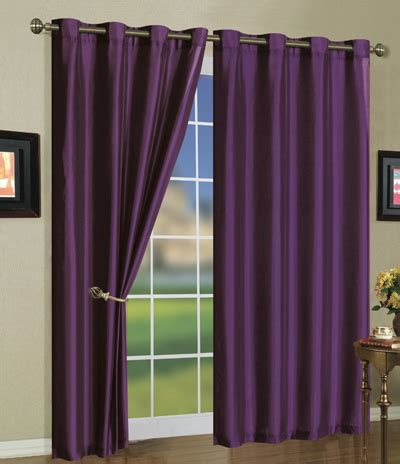 purple silk curtains faux silk mira curtain panels
