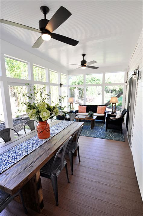 screened porch get away contemporary veranda dc