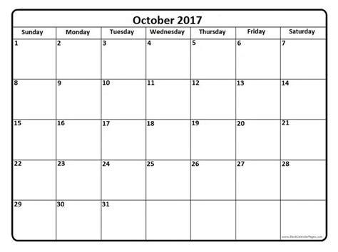online blank calendar pages october 2017 printable calendar page it works