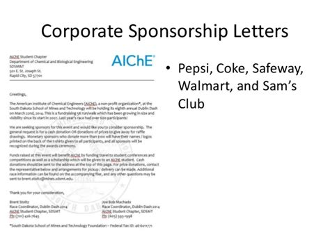 Fundraising Letter To Corporate Sponsors corporate fundraising and sponsorship