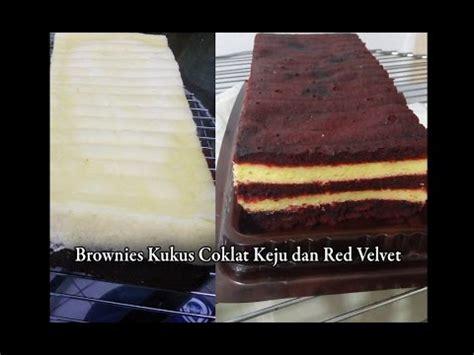 cara membuat bolu kukus red velvet tutorial cara membuat brownies kukus coklat keju dan red