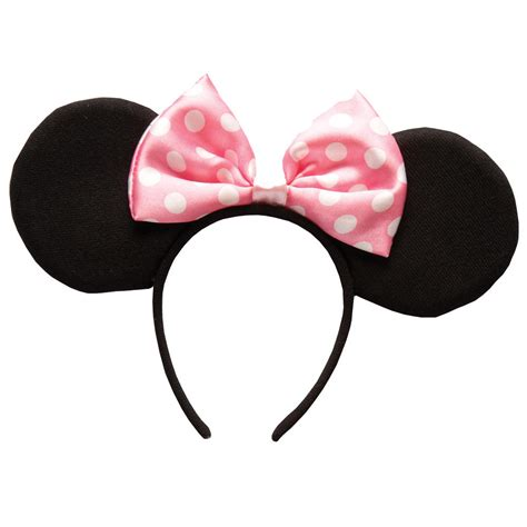 Miki Studed White Ear Pink minnie mouse padded ears band fancy dress up