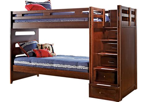 league cherry step bunk bed beds wood
