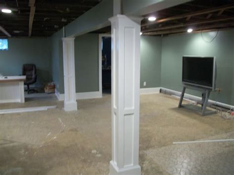 basement column ideas rooms