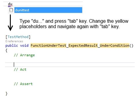 aaa pattern unit test c code snippet for unit tests darko micic s development