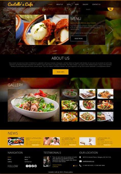 joomla restaurant template 50 best restaurant cafe joomla templates 2017