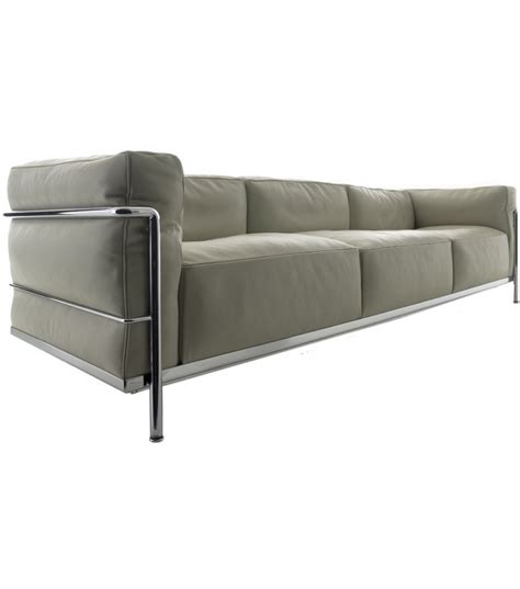 le corbusier sofa lc3 lc3 three seater sofa cassina milia shop