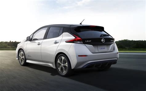 nissan leaf back all new 2018 nissan leaf unveiled with increased power