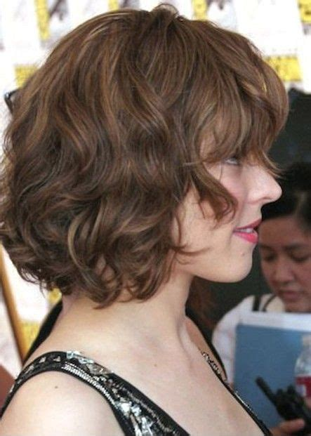 vies of side and back of wavy bob hairstyles side view of soft wavy curly bob hairstyle from rachael
