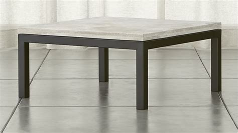 Parsons Square Dark Steel Coffee Table With Travertine Top Parsons Coffee Table Crate And Barrel
