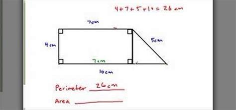 how to find the perimeter area of a complex figure