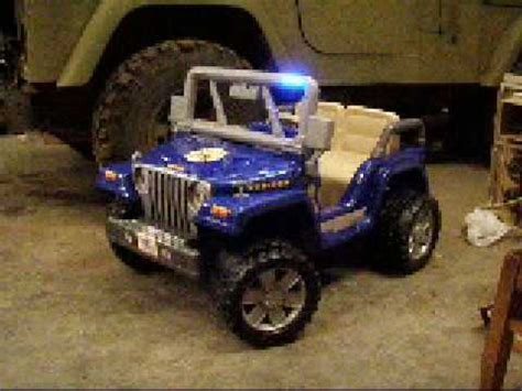 Power Wheels Jeep Wrangler Rubicon Power Wheels Jeep Rubicon With Led Strobe Lights