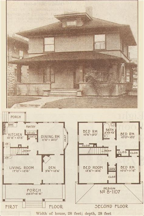 home plans seattle 1915 foursquare classic hewitt lea funck co seattle