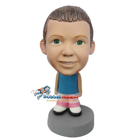 bobblehead doll casual with pink custom bobblehead doll