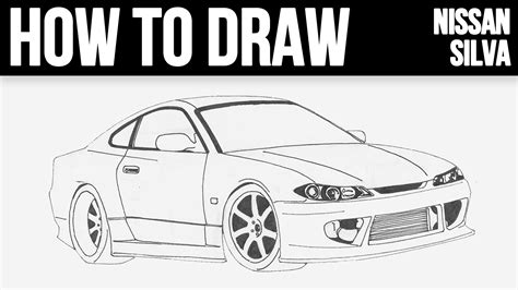 nissan silvia drawing how to draw nissan silvia s15 step by step youtube