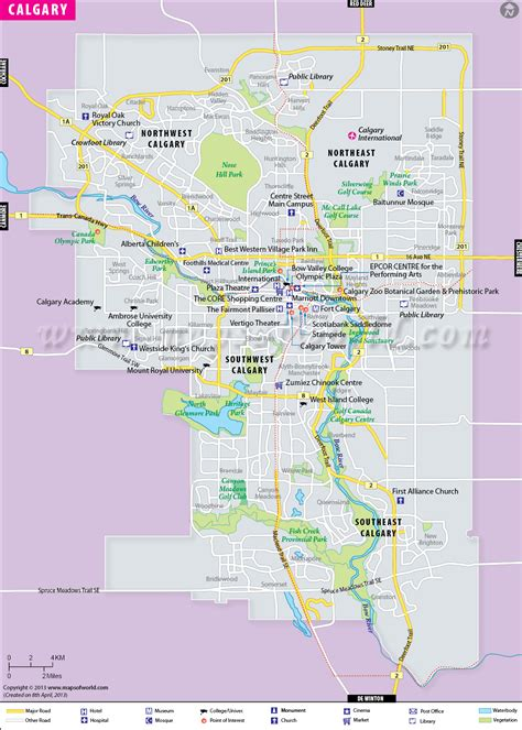 map of canada showing calgary calgary map map of calgary city