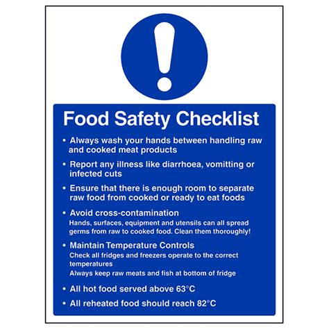 Disposal Of Kitchen Knives by Food Hygiene Amp Production Signs Eureka Direct