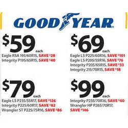 goodyear tires black friday deals goodyear eagle ls p225 60r16 tires at walmart black friday