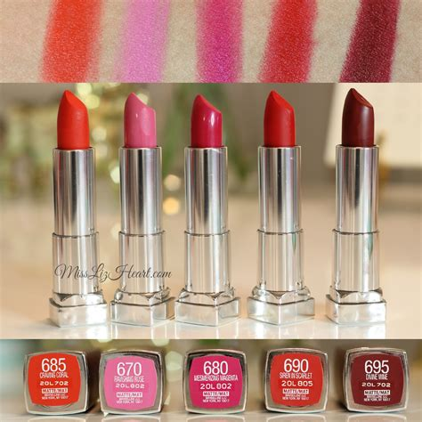 Lipstik Maybelline the bolder shades from the new maybelline color sensational matte lipstick swatches