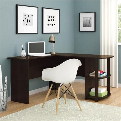 ameriwood dark russet cherry l shaped desk l shaped computer desk in dark russet cherry 9354303pcom