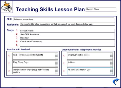 blank sle template lesson plan new calendar template site