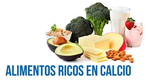 alimentos alto contenido en calcio alimentos ricos en calcio