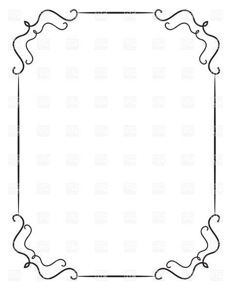 eps format borders simple frame designs clipart panda free clipart images