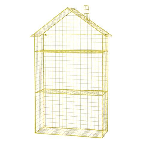etagere jaune 201 tag 232 re maison en m 233 tal jaune h 84 cm graphikids maisons
