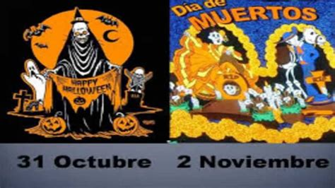 imagenes halloween y dia de muertos diferencias entre d 205 a de muertos y halloween youtube