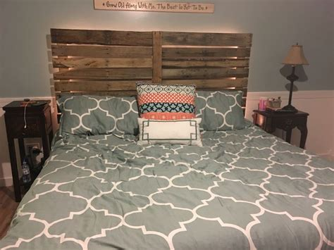 rope headboard headboard with rope lights string behind it our
