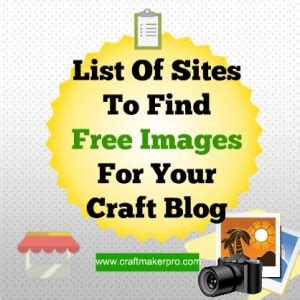 Of The Best Craft Blogs by List Of To Find Free Images For Your Craft