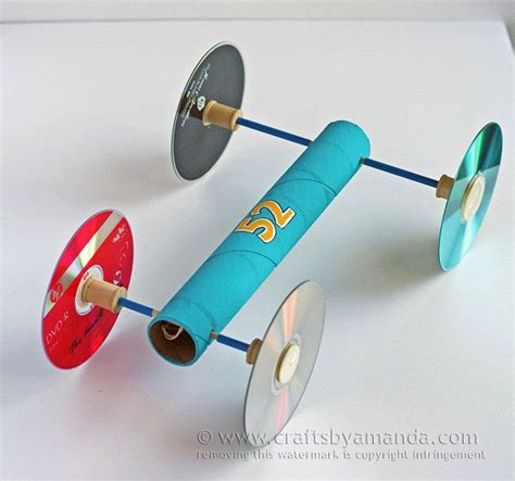 rubber band crafts for rubber band powered car via crafts by amanda crafts