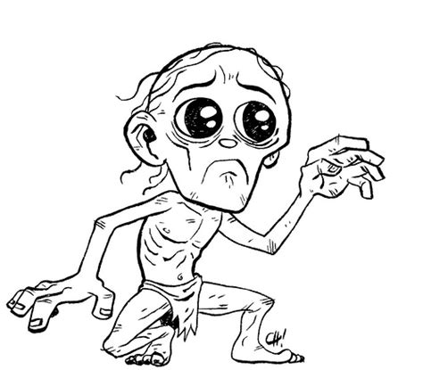 free coloring pages of gollum